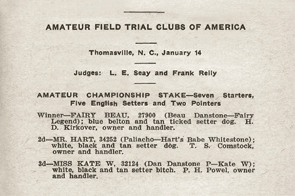 1918 Field Dog Stud Book